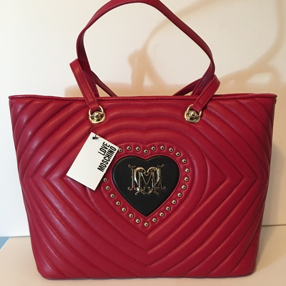 79ef6a4b0887f NEW Authentic Love Moschino Tote